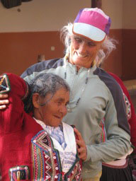 Deborah and Peruvian elder